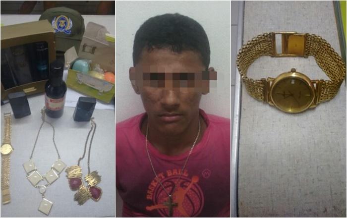 7c3cd42e2 Homem é preso suspeito de furtar jóias na casa do ex-prefeito de Brasileira